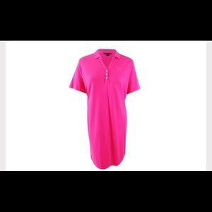 Tommy Hilfiger Hibiscus Plus Size Polo Shirtdress